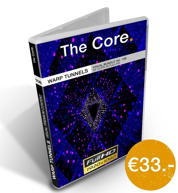 Warp Tunnels DXV 3 60fps - Visual Bundle Vol. 108 by The Core.
