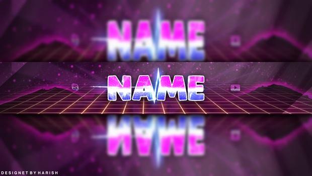 vaporwave youtube banner