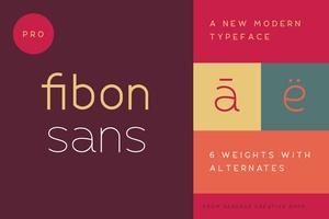 Fibon Sans Regular Weight Free