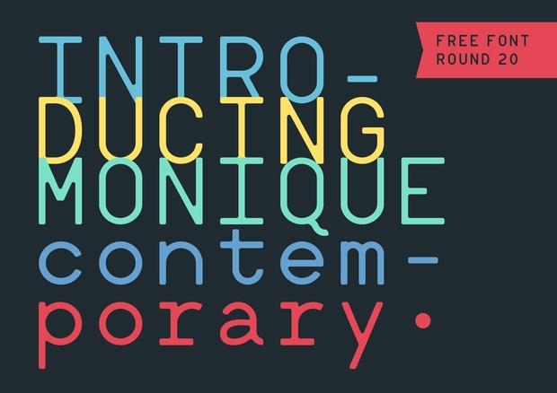 Monique Contemporary Round 20 Free - Hederae Type Foundry