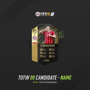 FIFA 18 TOTW Candidate Template