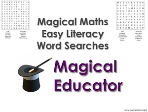 Magical Maths Easy Literacy Word Searches