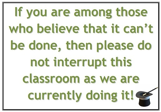 Classroom Sign for Motivation and Belief