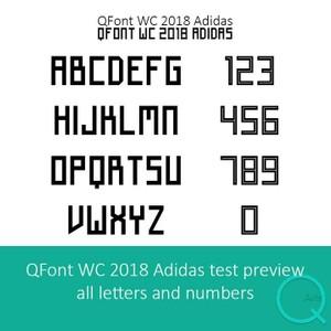 World Cup 2018 Adidas Font Football TTF