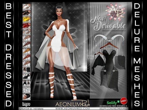 IMVU Freebie! Sexy Fury 5 Colors Texture Collection - AeoniumRed