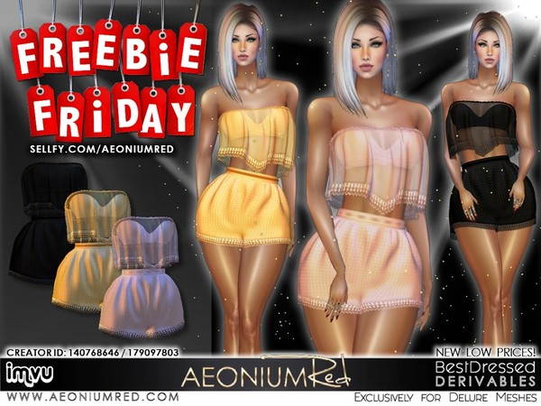 Freebie Friday! 3 Lace Outfits Imvu Texture Files