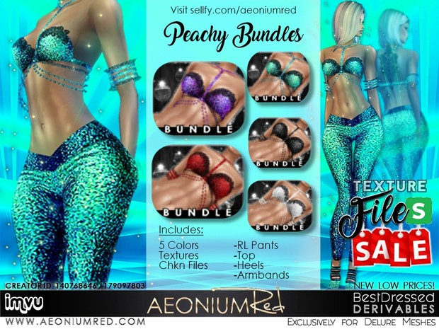 IMVU File Sale! 5 Peachy Bundles