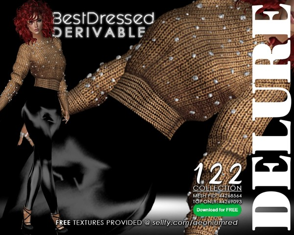 IMVU FREEBIE! BD122 Jewel Sweater Outfit + Top