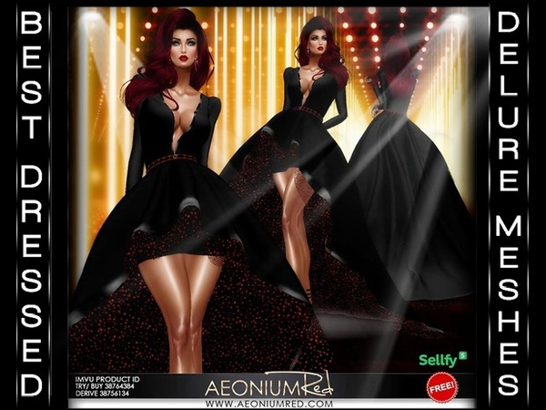 Jessica Red Carpet Gown IMVU FREEBIE