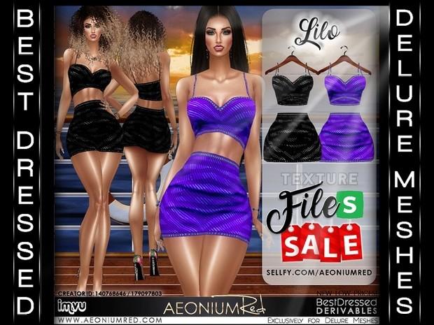 IMVU Texture Files Sale! Lilo Dresses