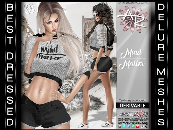 FREEBIE! RL,RLL,RLS Mind Over Matter Outfit Textures