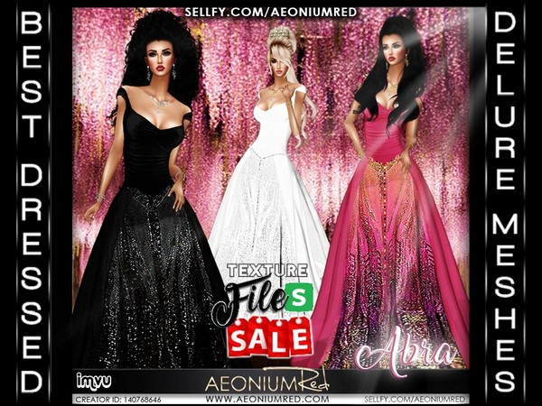 Imvu File Sale! Abra Gowns: Set 1