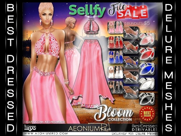 IMVU Texture Pack File Sale: Bloom Collection