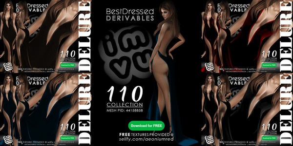 IMVU FREEBIE! : BD110 4 Gowns