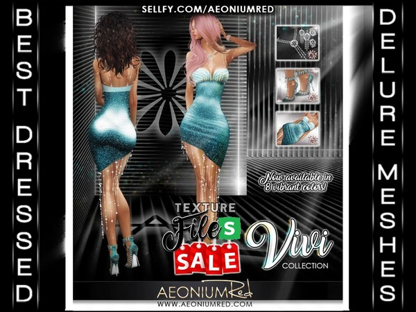 Imvu File Sale! Vivi Collection Teal Blue