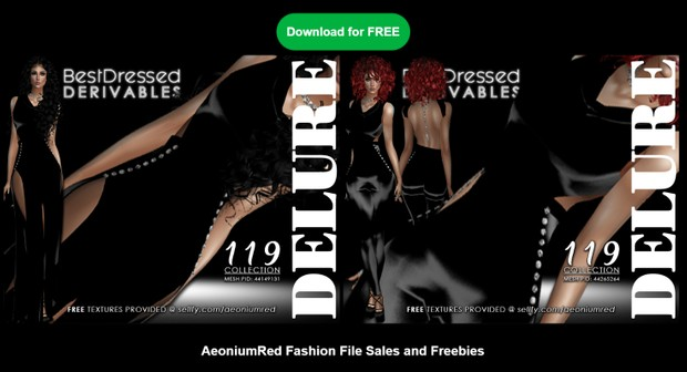 IMVU FREEBIE! BD119 : 2 Outfits - AeoniumRed