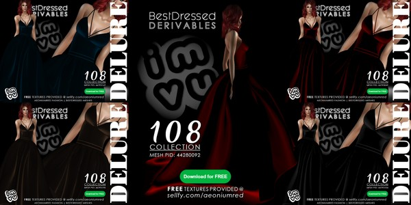 IMVU FREEBIE! BD108 Gowns 4 Colors