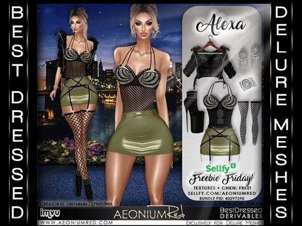 IMVU Freebie Friday! Alexa 6 Piece Bundle