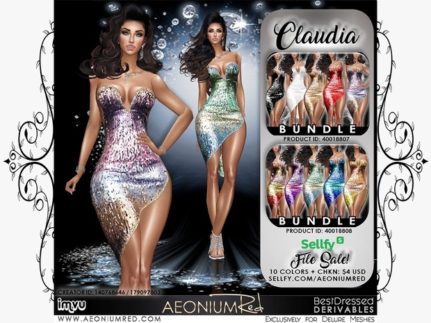 IMVU File Sale! Claudia 10 Colors