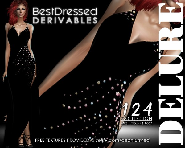 IMVU FREEBIE! BD124  Side Gather Dress
