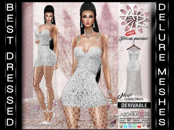 Imvu Freebie: Fishnet Halter Dress