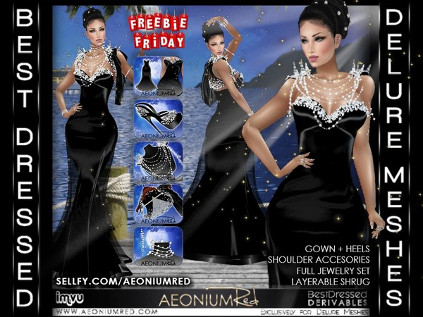 IMVU Freebie Friday! Elegant Black Pearl Bundle