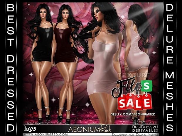 IMVU File Sale! Leather Dresses 3 Colors