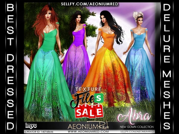 Imvu File Sale! Abra Gowns: Set 2