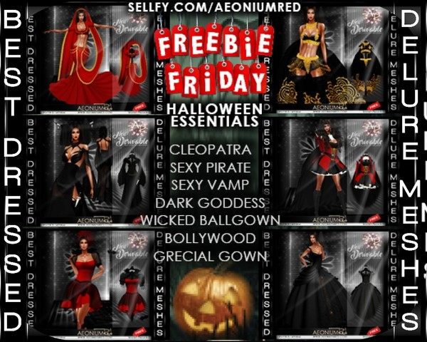 IMVU Freebie Friday! Halloween Essentials MegaPack