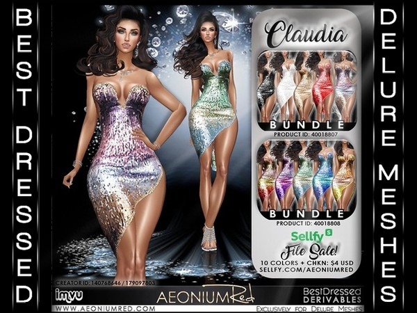 IMVU File Sale! Claudia 10 Colors