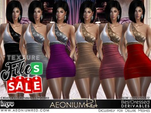 IMVU Freebie Friday! Lacey Negligee 5 Piece Bundle - AeoniumRed