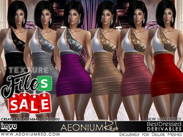 IMVU File Sale! Sira Cocktail Dress 6 Colors