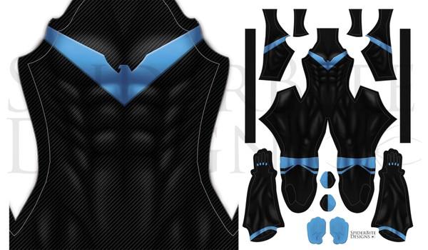 Nightwing Rebirth Carbon Fiber