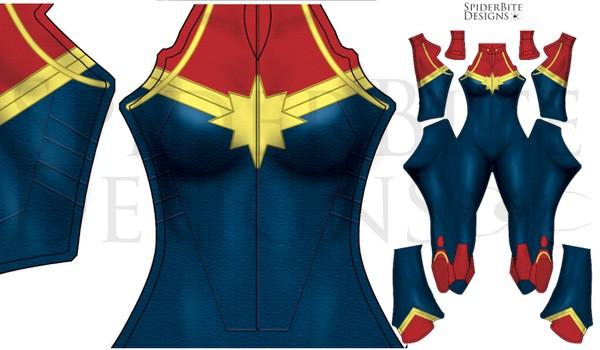Captain Marvel New Suit