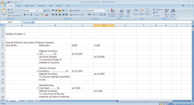 Cost Accounting solution