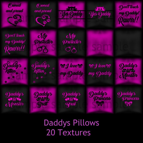 Daddys Pillows Catty Only!