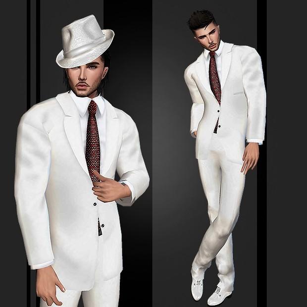 Wedding Suit White V.3