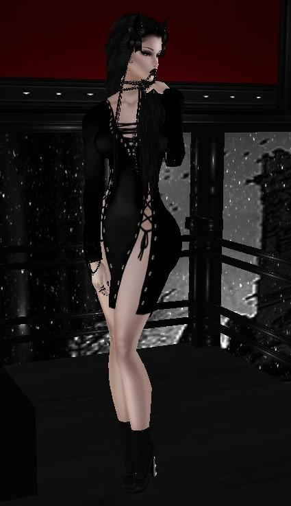 Black Dress Catty Only