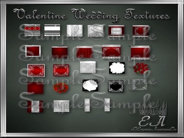 Valentine Wedding Textures