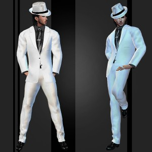 Wedding Suit White V.2 Catty Only!