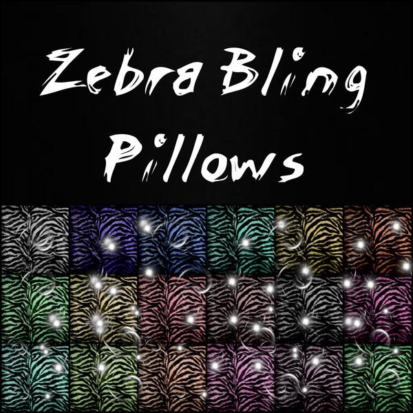 Zebra Bling Pillows