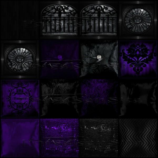 Gothic Wedding Purple Catty Only