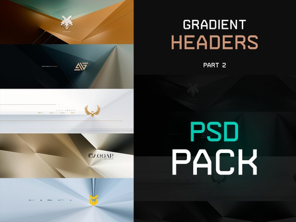 Gradient Headers PSD PACK ( PART 2  )