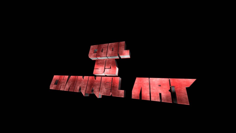 Cool 3d Channel Art Banner