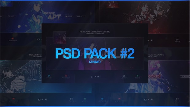 PSD Pack #2 (Anime)