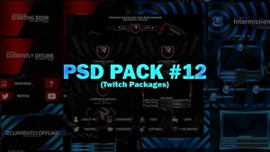 PSD Pack #12 (Twitch Packages)