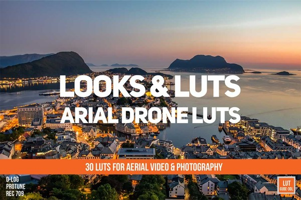 Aerial DRONE Luts Pack - 30 luts! plus technical & bonus LUTs!