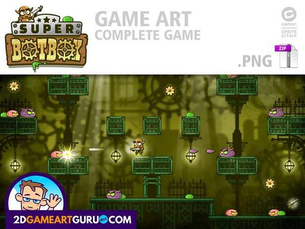SuperBotBox - complete game art