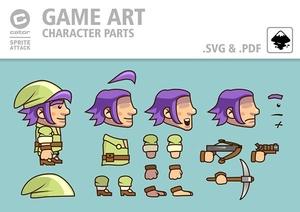 GreenDwarf character parts and frames