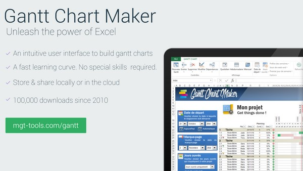 Gantt Chart Maker BUSINESS (FR)